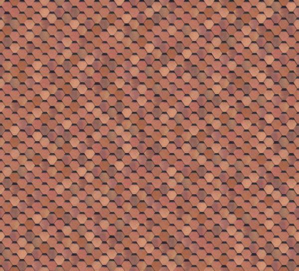 Гибкая черепица Shinglas Classic Quadrille Соната Красно-коричневый