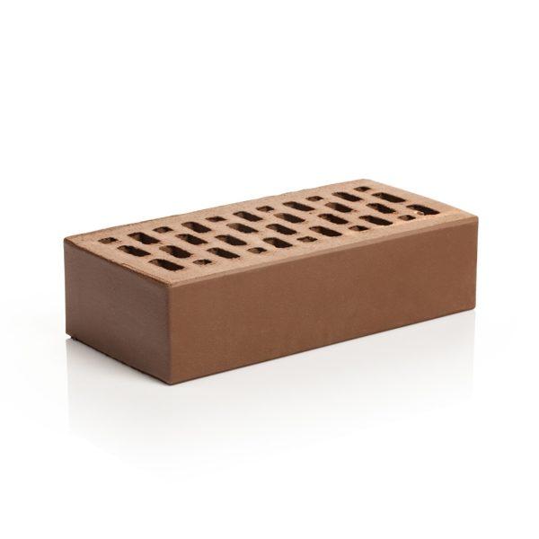 Кирпич лицевой Магма Шоколад гладкий одинарный