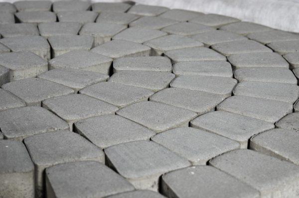 Тротуарная плитка BRAER Классико Круговая, Серая