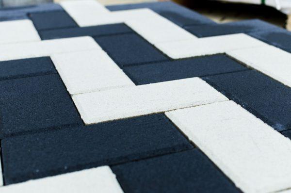 Тротуарная плитка BRAER Прямоугольник, Белый