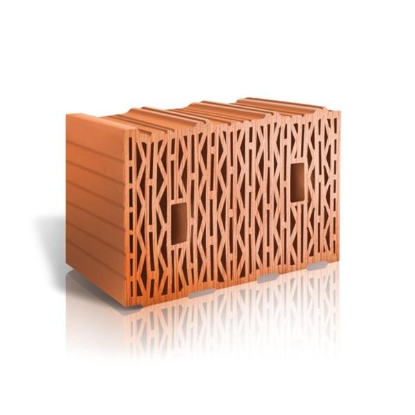 Крупноформатный поризованный керамический блок ЛСР 10,7 NF М100 Теплый