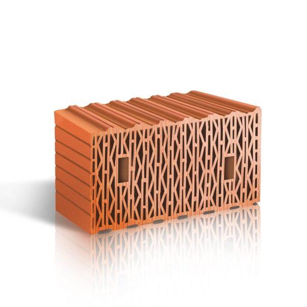 Крупноформатный поризованный керамический блок ЛСР 12,35 NF М100