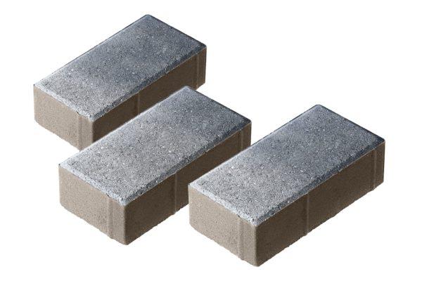 Тротуарная плитка Брусчатка 200x100x70 Колормикс Сильвер