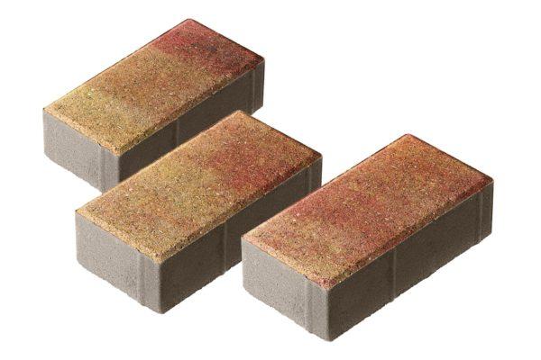 Тротуарная плитка Брусчатка 200x100x70 Колормикс Мальва