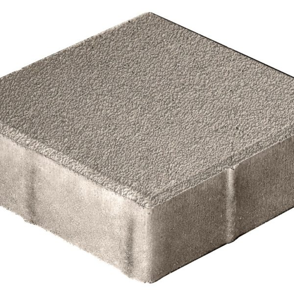 Тротуарная плитка Квадрат 400x400x80 Гранит - Серый