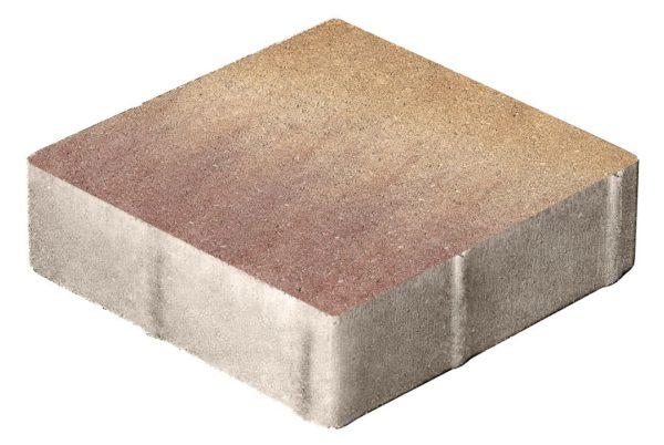 Тротуарная плитка Квадрат 400x400x80 Колормикс Листопад