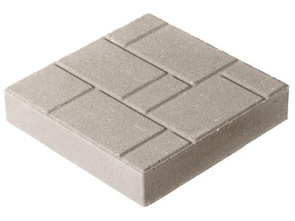 Тротуарная плитка Квадрат П3-6 300х300х60 «с рисунком» Стандарт