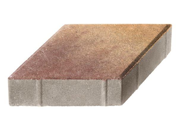 Тротуарная плитка Ромб 200x200х60 Колормикс Листопад