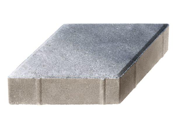 Тротуарная плитка Ромб 200x200х60 Колормикс Сильвер