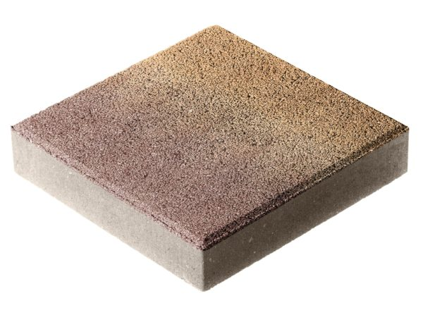 Тротуарная плитка Квадрат П15-6 300x300х60 Гранит Листопад