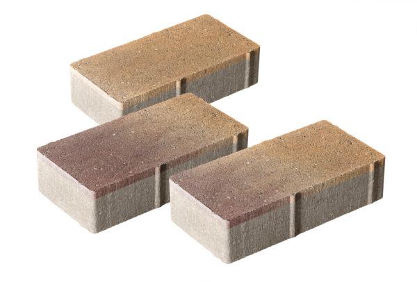 Тротуарная плитка Брусчатка 240x120x60 без фаски Колормикс Листопад