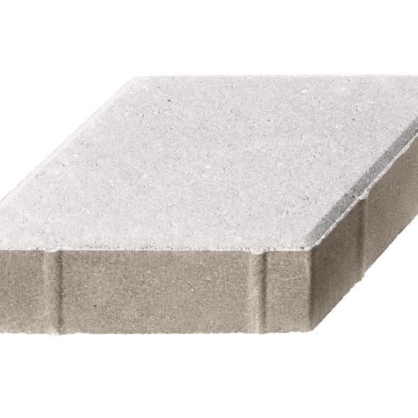 Тротуарная плитка Ромб 200x200х60 Белый