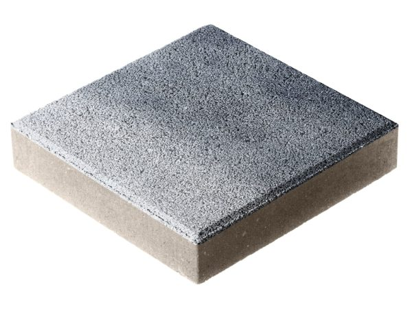 Тротуарная плитка Квадрат П15-6 300x300х60 Гранит Сильвер